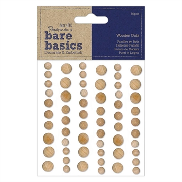Happymade - DoCrafts Papermania - Wooden dots - Light (PMA174733)