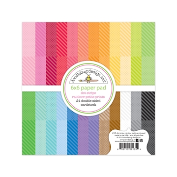 "Happymade - Doodlebug Design Inc - Paper pad - 6x6"" - Dot Stripe Rainbow Petite Prints (6135)"