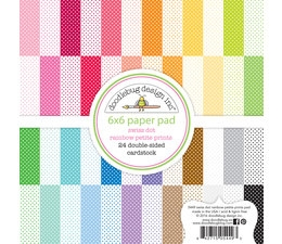 "Happymade - Doodlebug Design Inc - Paper pad - 6x6"" - Swiss Dot Rainbow Petite Prints (5449)"