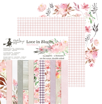 "Happymade - Piatek - Design papers - Love in Bloom - 6x6"" (pakn. m/24 + 2 bonus ark)"