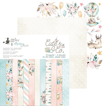 "Happymade - Piatek - Design papers - Cute & Co - 12x12"" (pakn. m/12 + 2 bonus ark)"