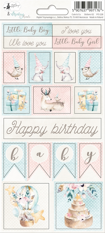 Happymade - Piatek - Stickers - Cute & Co - P13-228