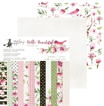 "Happymade - Piatek - Design papers - Hello Beautiful - 6x6"" (pakn. m/24 + 2 bonus ark)"