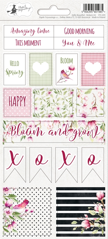 Happymade - Piatek - Stickers - Hello Beautiful - P13-209