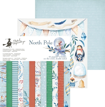 "Piatek - Design papers - North Pole - 6x6"" (pakn. m/24 + 2 bonus ark)"
