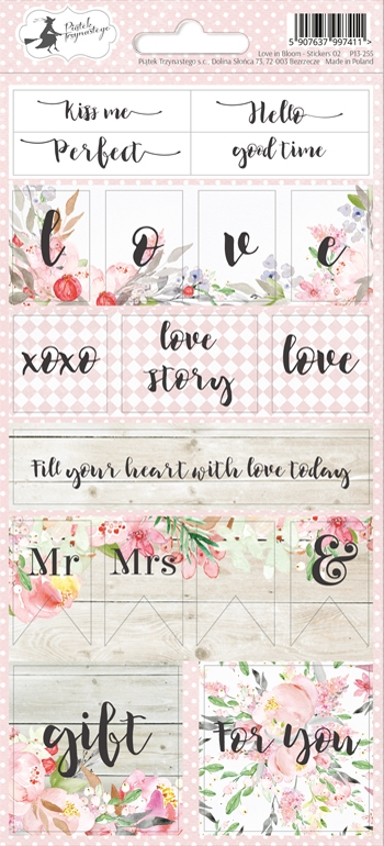 Happymade - Piatek - Stickers - Love in Bloom - P13-255