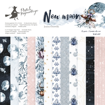 "Happymade - Piatek - Design papers - New Moon - 6x6"" (pakn. m/24 + 2 bonus ark)"