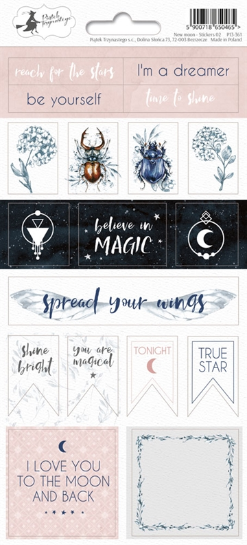 Happymade - Piatek - Stickers - New Moon - P13-361