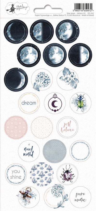 Happymade - Piatek - Stickers - New Moon - P13-362