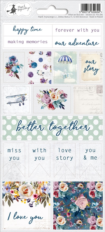 Happymade - Piatek - Stickers - When We First Met - P13-384
