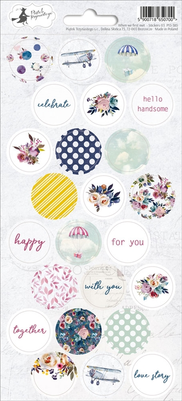 Happymade - Piatek - Stickers - When We First Met - P13-385