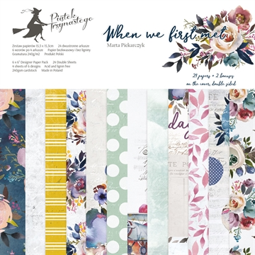 "Happymade - Piatek - Design papers - When We First Met - 6x6"" (pakn. m/24 + 2 bonus ark)"