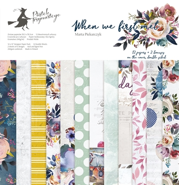 "Happymade - Piatek - Design papers - When We First Met - 12x12"" (pakn. m/12 + 2 bonus ark)"