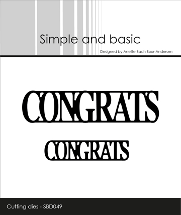 Happymade - Simple and basic - Die - Congrats (SBD049)
