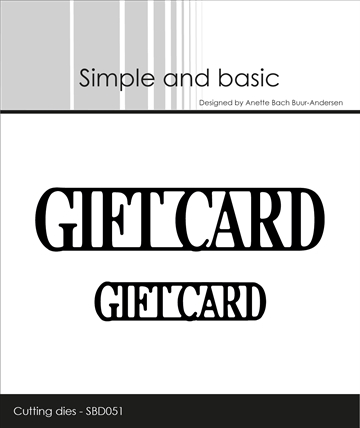 Happymade - Simple and basic - Die - Gift Card (SBD051)