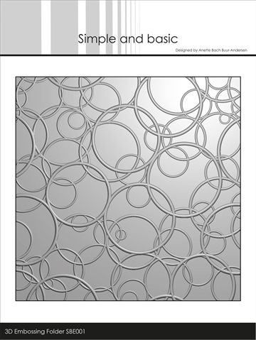 Happymade - Simple and basic - Embossing folder - Circles - SBE001