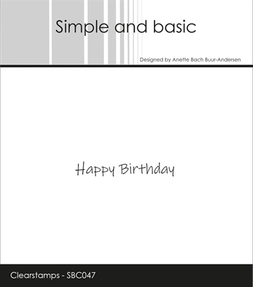 Happymade - Simple and basic - Clear stamp - Happy Birthday 1 (SBC047)