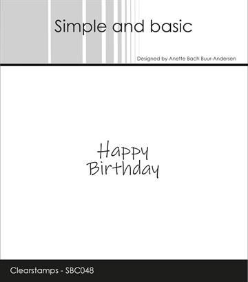 Happymade - Simple and basic - Clear stamp - Happy Birthday 2 (SBC048)