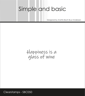 Happymade - Simple and basic - Clear stamp - Happiness is a glass of Wine (SBC050)