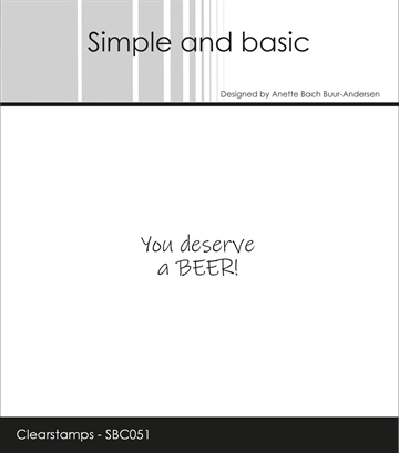 Happymade - Simple and basic - Clear stamp - You deserve a BEER (SBC051)