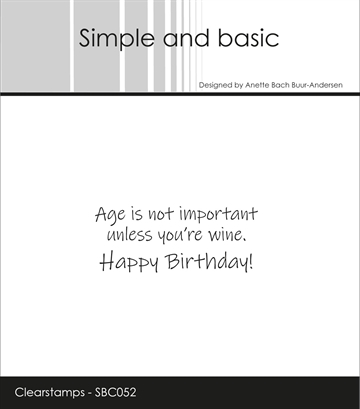 Happymade - Simple and basic - Clear stamp - Age is not important... (SBC052)