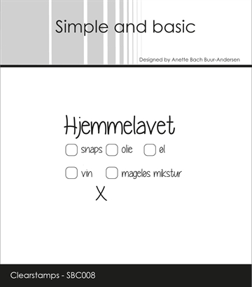 Happymade - Simple and basic - Clear stamp - Hjemmelavet (SBC008)