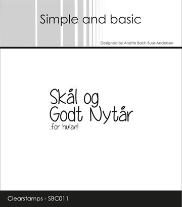 Happymade - Simple and basic - Clear stamp - Nytår (SBC011)