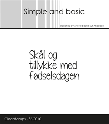 Happymade - Simple and basic - Clear stamp - Fødselsdag (SBC010)