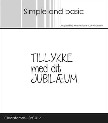 Happymade - Simple and basic - Clear stamp - Jubilæum (SBC012)