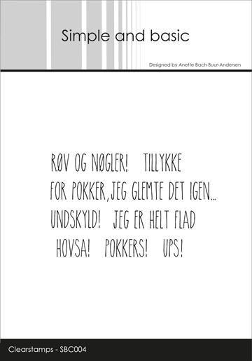 Happymade - Simple and basic - Clear stamp - Røv og Nøgler (SBC004)