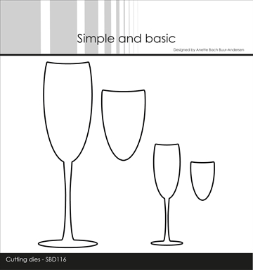Happymade - Simple and basic - Die - Champagne Glasses (SBD116)