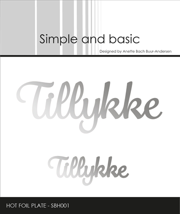 Happymade - Simple and basic - Hot Foil Plate - Tillykke (SBH001)