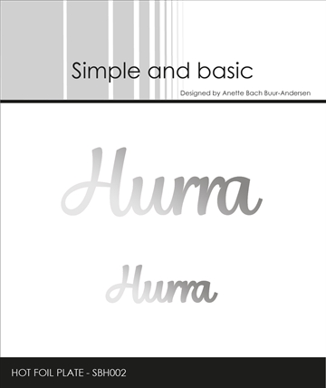 Happymade - Simple and basic - Hot Foil Plate - Hurra (SBH002)