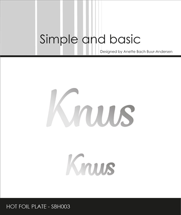 Happymade - Simple and basic - Hot Foil Plate - Knus (SBH003)
