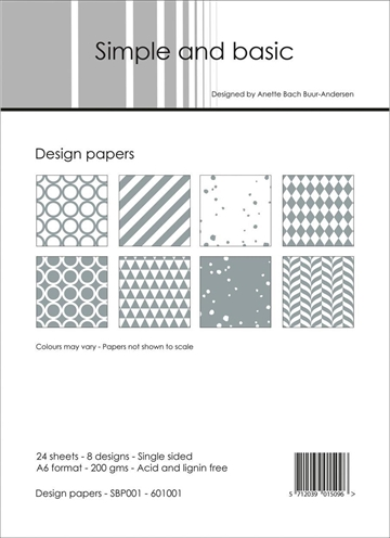 Happymade - Simple and basic - Design papers - A6 - SBP001