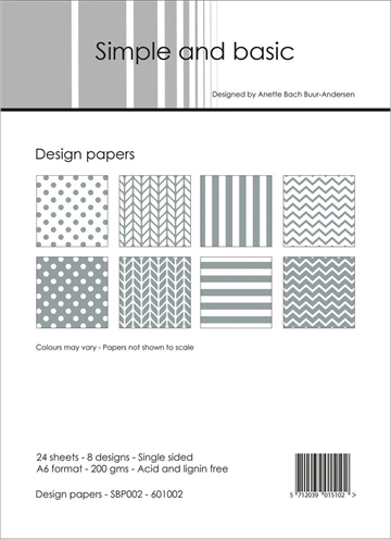 Happymade - Simple and basic - Design papers - A6 - SBP002