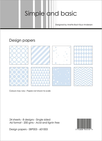 Happymade - Simple and basic - Design papers - A6 - SBP003