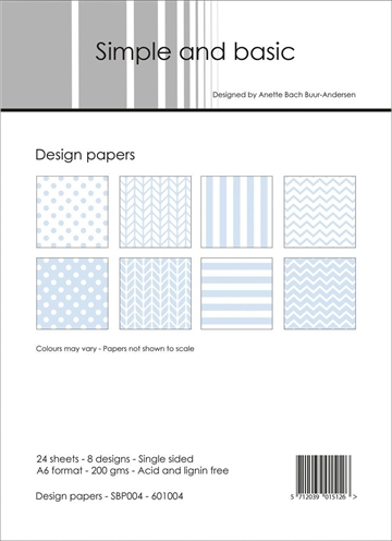 Simple and basic - Design papers - A6 - SBP004