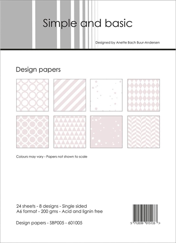 Happymade - Simple and basic - Design papers - A6 - SBP005