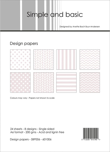 Happymade - Simple and basic - Design papers - A6 - SBP006