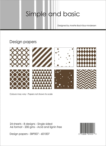 Happymade - Simple and basic - Design papers - A6 - SBP007