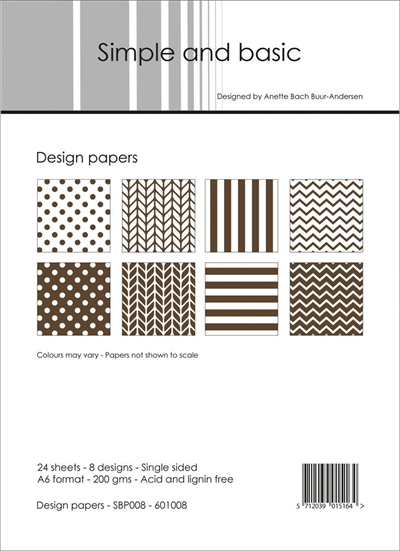 Happymade - Simple and basic - Design papers - A6 - SBP008