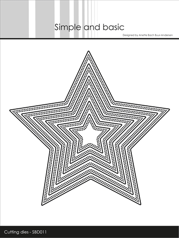 Simple and basic - Die - Pierced Stars (SBD011)