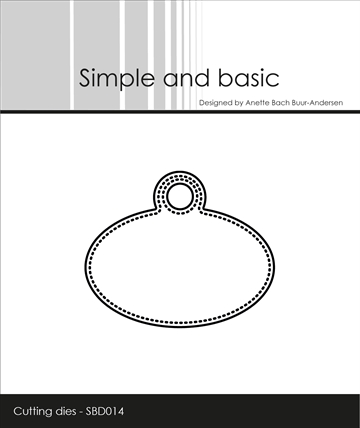 Simple and basic - Die - Pierced Oval Tag (SBD014)
