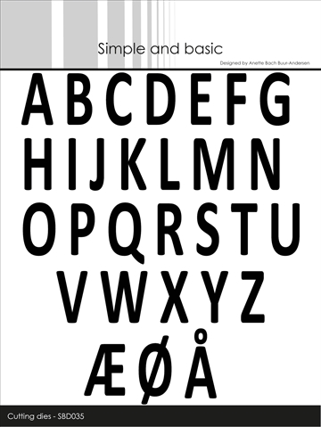 Happymade - Simple and basic - Die - Alphabet - Capital Letters (SBD035)