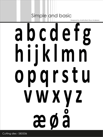 Happymade - Simple and basic - Die - Alphabet - Small Letters (SBD036)