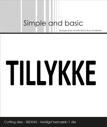 Happymade - Simple and basic - Die - Text Plate - TILLYKKE (SBD045)