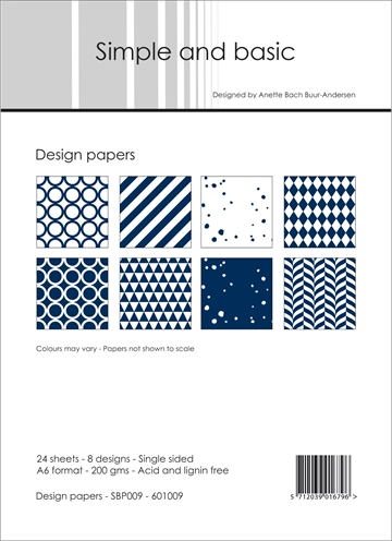 Happymade - Simple and basic - Design papers - A6 - SBP009