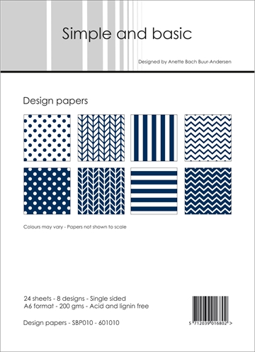 Happymade - Simple and basic - Design papers - A6 - SBP010