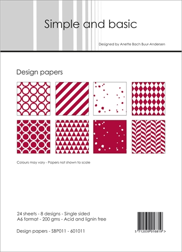 Happymade - Simple and basic - Design papers - A6 - SBP011
